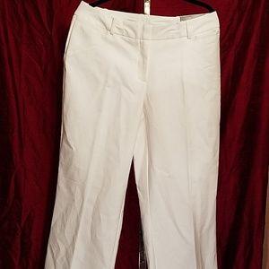 Worthington women's curvy fit white pants. Size 12